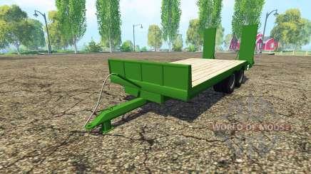 Lowboy trailer Fendt para Farming Simulator 2015