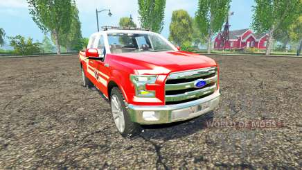 Ford F-150 Division of Fire para Farming Simulator 2015