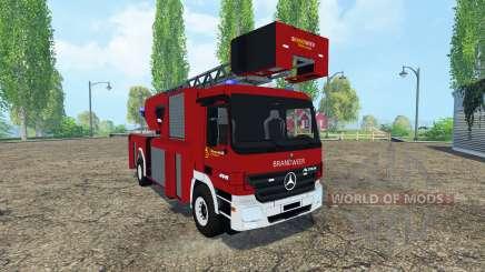 Mercedes-Benz Actros 4141 Belgian Fire Truck para Farming Simulator 2015