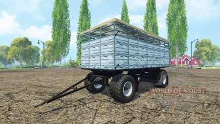 Remolque para el transporte de ganado v3.0 para Farming Simulator 2015