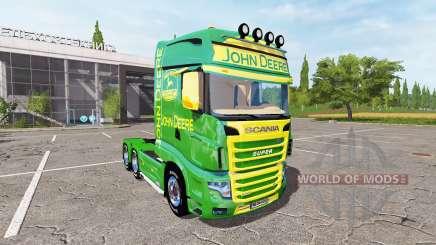 Scania R700 Evo John Deere para Farming Simulator 2017