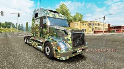 El ejército de la piel para camiones Volvo VNL 670 para Euro Truck Simulator 2