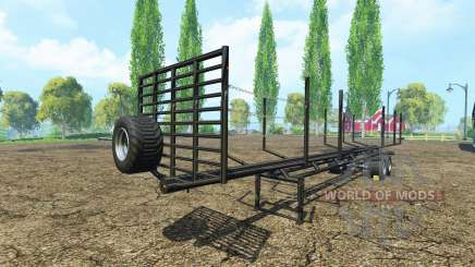 Semi-remolque de madera para Farming Simulator 2015