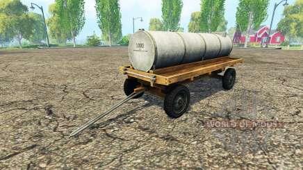 Remolque con tanque de v1.1 para Farming Simulator 2015