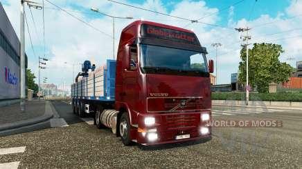 Una colección de camiones de transporte para el tráfico de v2.1 para Euro Truck Simulator 2
