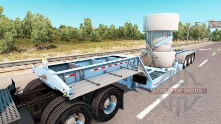Baja de barrido con un cargamento de residuos nucleares para American Truck Simulator