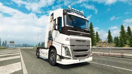 Antonia de la piel para camiones Volvo para Euro Truck Simulator 2