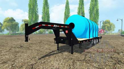 PJ Trailers Gooseneck fertilizer para Farming Simulator 2015