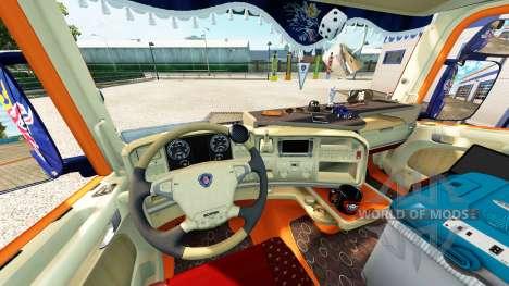 Interior para Scania camión para Euro Truck Simulator 2