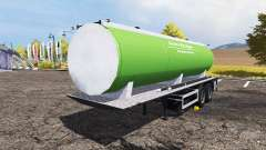Slurry manure tanker