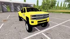 Chevrolet Silverado 3500 HD Police para Farming Simulator 2017
