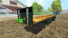 Semitrailer platform para Farming Simulator 2015