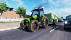 John Deere in traffic