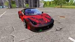 Ferrari 458 Italia fireskin para Farming Simulator 2017