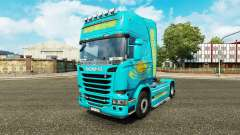 La piel de Kazajstán para tractor Scania