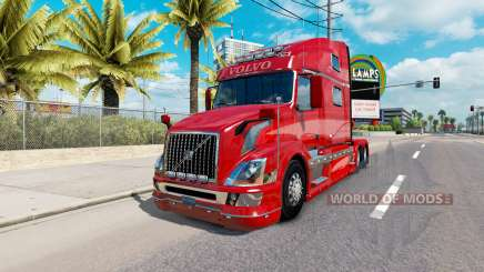 La piel Roja de la Fantasía v2.0 para camiones Volvo VNL 780 para American Truck Simulator