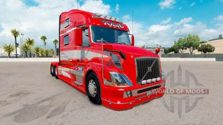 La piel Roja de la Fantasía en el camión Volvo VNL 780 para American Truck Simulator