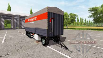 Flatbed trailer para Farming Simulator 2017