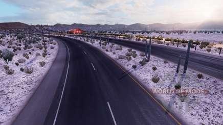 De invierno con heladas meteorológicas v2.1 para American Truck Simulator