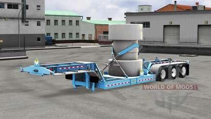 Baja de barrido con un cargamento de residuos nucleares v1.1 para American Truck Simulator