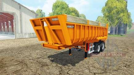 Fruehauf tipper semitrailer v2.0 para Farming Simulator 2015