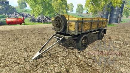Old flatbed trailer v2.2 para Farming Simulator 2015