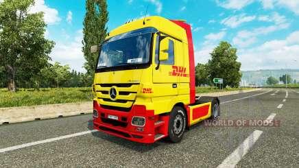 La piel de DHL para tractor Mercedes-Benz para Euro Truck Simulator 2