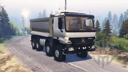 Mercedes-Benz Actros (MP2) 8x8 v1.1 para Spin Tires
