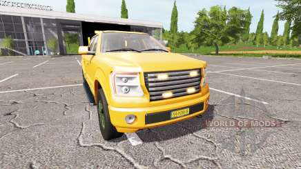 Lizard Pickup TT traffic advisor v1.2 para Farming Simulator 2017