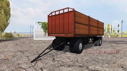 Remolque de cama plana MAZ para Farming Simulator 2013