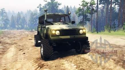UAZ 3172 Scout para Spin Tires