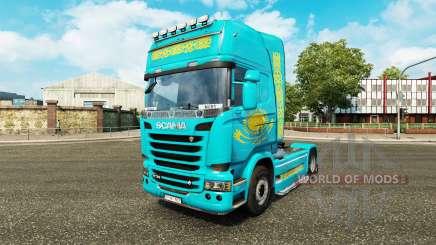 La piel de Kazajstán para tractor Scania para Euro Truck Simulator 2