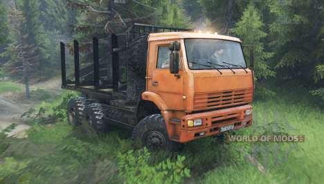 KamAZ 6522 v10.0 para Spin Tires