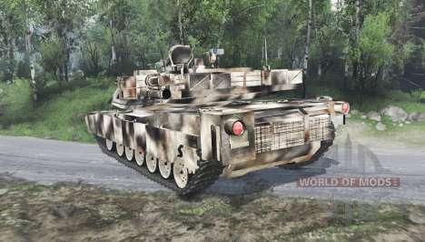 M1 Abrams desert camo para Spin Tires