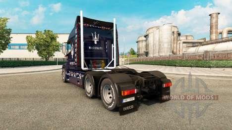 La piel de la Maserati en el camión Iveco Strato para Euro Truck Simulator 2
