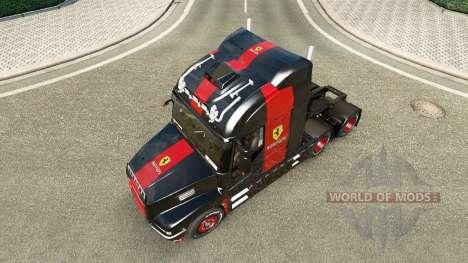 La piel de Ferrari en el camión Iveco Strator para Euro Truck Simulator 2