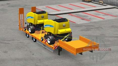 Bajo la cama semirremolques con cargas v3.0 para American Truck Simulator
