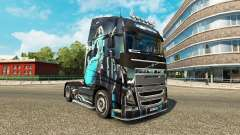 Azul de Niña de piel para camiones Volvo