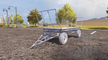 Autosan bale trailer para Farming Simulator 2013