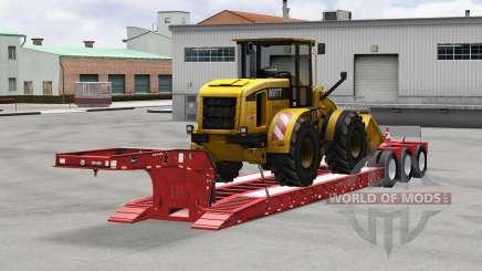 Baja de barrido Etnyre con los bienes para American Truck Simulator