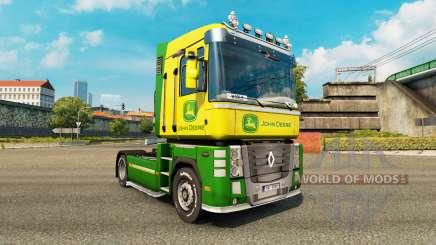 La piel de John Deere tractor Renault Magnum para Euro Truck Simulator 2