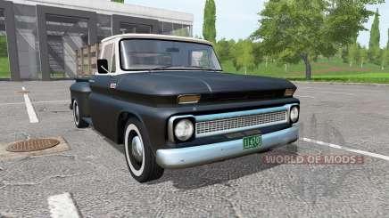Chevrolet C10 Fleetside 1966 v1.1 para Farming Simulator 2017