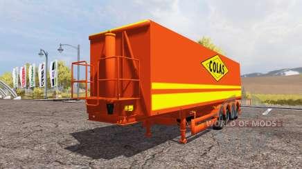 Tipper semitrailer Colas para Farming Simulator 2013
