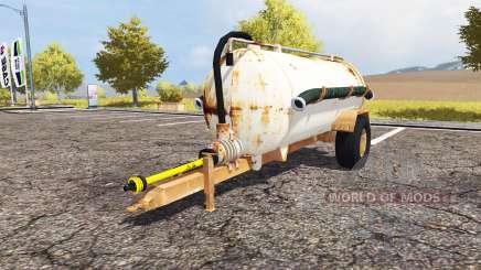 Rusty slurry tanker para Farming Simulator 2013