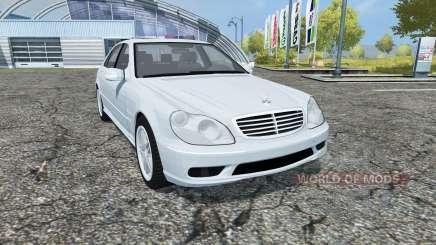 Mercedes-Benz S65 AMG V12 Biturbo (W220) 2005 para Farming Simulator 2013