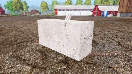Concrete weight para Farming Simulator 2015