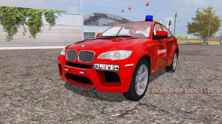BMW X6 M (Е71) Departamento de bomberos para Farming Simulator 2013