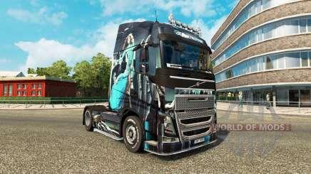 Azul de Niña de piel para camiones Volvo para Euro Truck Simulator 2