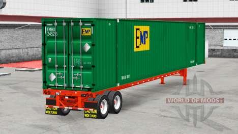 El semirremolque-contenedor de camión para American Truck Simulator