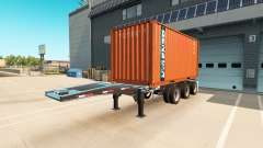 El semirremolque-contenedor de camión